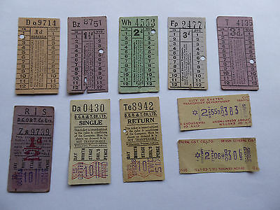 10 used Exeter bus tickets