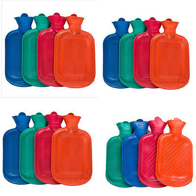 Classical Rubber Hot Water Bottle Bag Warm Relaxing Care Random Color Vintage
