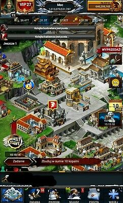 Game of war account 1t power