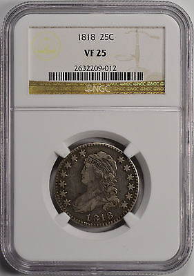 1818 25C Capped Bust Quarter NGC VF25