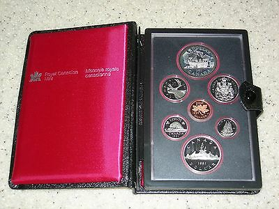 1981 Canada Double Dollar Proof Set In Case