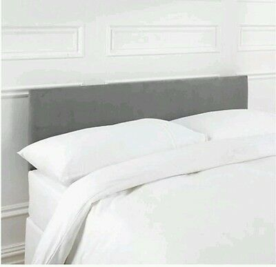 /5%Seetall Mittal Single 3ft Upholstered Headboard For Bed - Faux Suede Charcoal