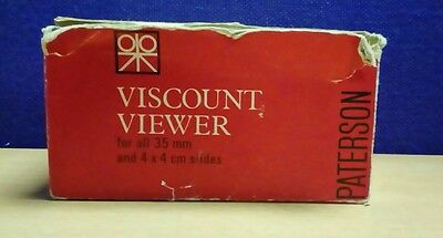 Vintage 1960s Pattersons Viscount Slide Viewer With Instructions BOXED 24 E97