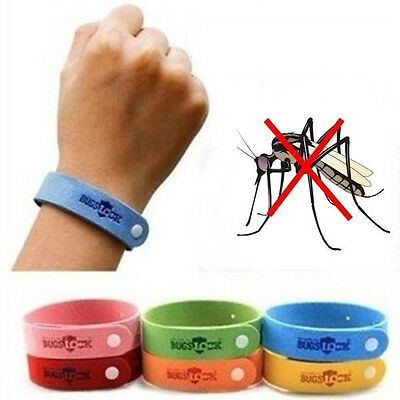 5pcs Summer Anti Mosquito Bug Repellent Wrist Band Bracelet Insect Nets Hiking
