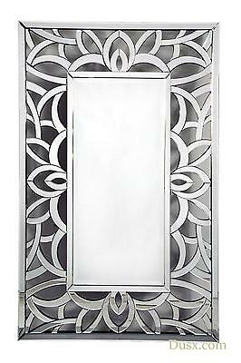 DUSX Contemporary Venetian Open Fretted Bevelled Large Mirror