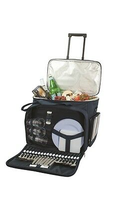 Brand New With Tag Avanti 6 Person Picnic Set Picnic Trolley Bag Cooler Bag