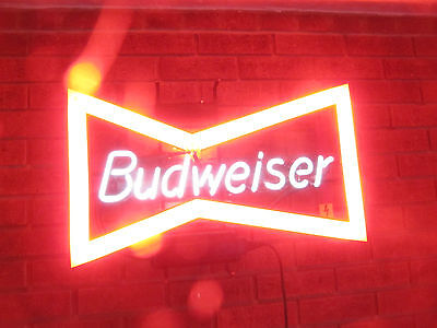 Very Large Commercial Promotional Budweiser Neon Light