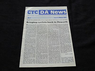 Vintage Cycletouring Magazine DA News Supplement for February/March 1989