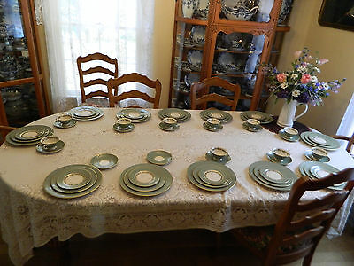 "Franciscan China Gladding McBean & Co. ""Concord"" 58 Pieces Dinnerware bw1-2"