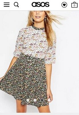 Asos Maternity Ditsy Floral Skater Dress Size 8