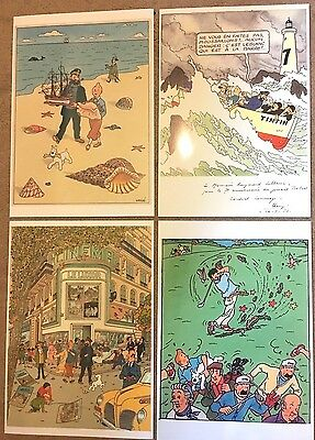 Rare Tintin scene prints by Herge A4 Posters - BUY INDIVIDUALLY Dessin