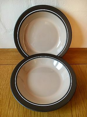 PAIR of Vintage Retro Hornsea Pottery Bowls in Coral Design