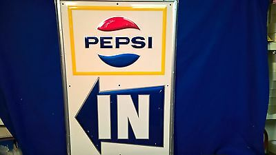 Pepsi Cola drive in theater in arrow sign bottle embossed movie a&w dog n suds