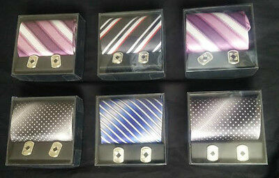 Gift box with tie and cufflinks