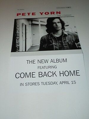 PETE YORN~Day I Forgot~Promo Poster Flat~Double Sided~12x18~NM~2003