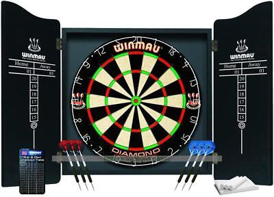Winmau Darts Set (Cabinet, Diamond Dartboard and 6 darts)