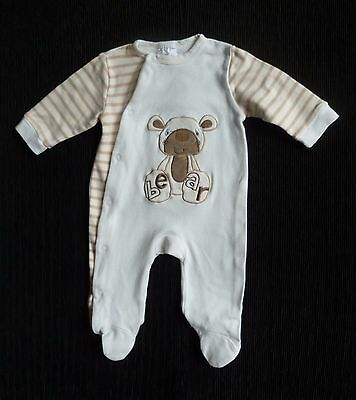 Baby clothes UNISEX BOY GIRL 0-3m Special Delivery coffee/cream bear babygrow