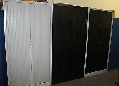 Steel Tall Office Filing Storage Tambour Cupboards With Keys