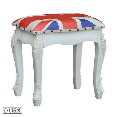 Union Jack Stool Padded British Vintage Retro Dining Room Lounge UK