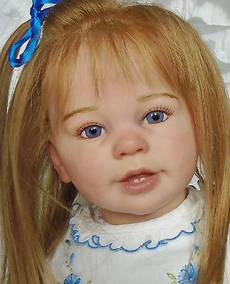 Beautiful lifelike GIRL TODDLER doll from Katie Marie sculpt by Ann Timmerman