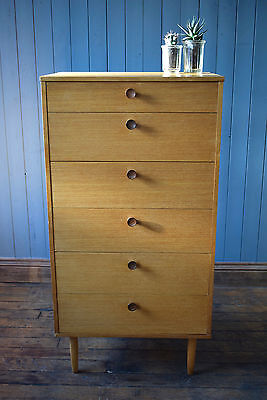 Vintage Mid Century Avalon Teak Tallboy Chest Of Drawers Retro CAN DELIVER