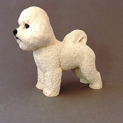 Bichon Frise Vintage North Light Dog Figurine Made In England