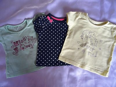 early days ~ Mothercare ~ Shirt ~ 3 Shirts ~ Sommershirt ~ Gr. 6 - 12 Monate