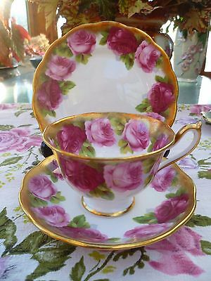 Stunning Vintage Royal Albert China Trio Tea Cup Saucer Plate Old English Rose