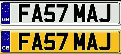 Fast Maj Private Personal Personalised Cherished Number Plates Plate For Sale