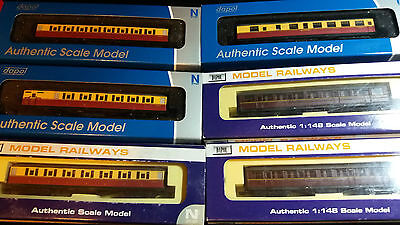Dapol N gauge LNER Gresley coaches New boxed x6