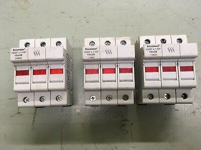Lot of 3  BUSSMANN CHM3DI FUSE HOLDER NEW