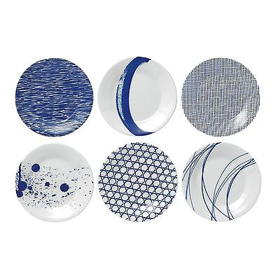Royal Doulton Pacific Tapas Plates 6.3-Inch Blue Set of 6