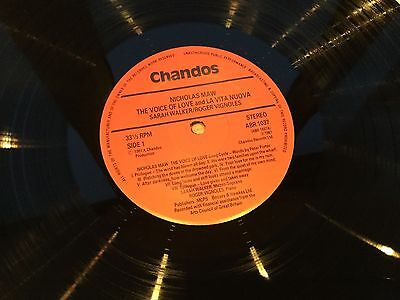 AUDIOPHILE Chandos Nimbus Super Analog LP MAW Voice Of Love Analogue NEAR MINT