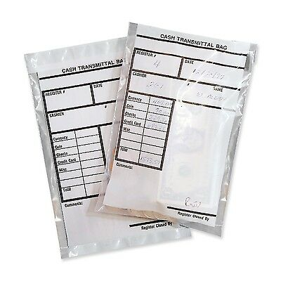 MMF Industries Cash Transmittal Bags Self-Sealing with Permanent Adhesive 6 x...