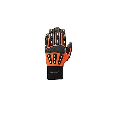 Seirus 8182.1.4184 HWS Workman Gripper Glove Men Hi-Vis Orange - Large