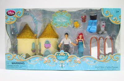 Disney Kids Princess Ariel Eric Mini Castle Figurine Play Set Dolls Toys 8Pc Nib