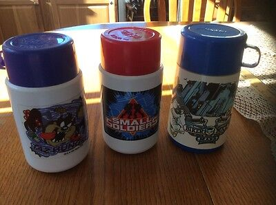 Lunch Box Taz Small Soldiers Biker Mice From Mars Thermos Lot