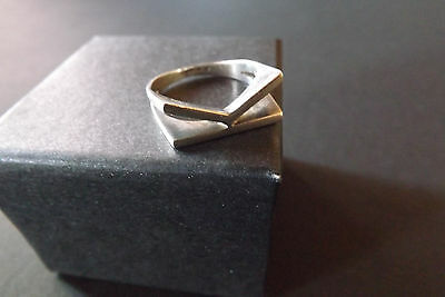 Ladies Sterling Silver 925 'K' Ring (Size O 1/2)