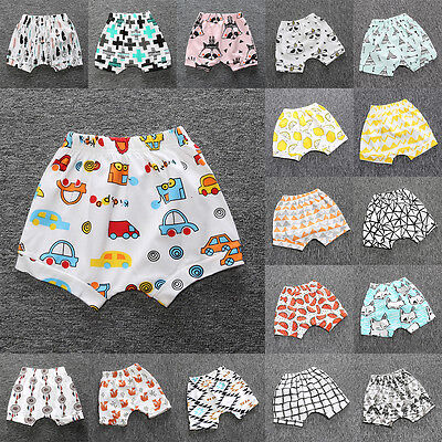 Kids Toddler Baby Boy Girls Printed Harem Pants Trousers Bottom Shorts Clothes