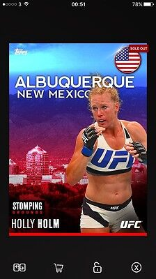 Topps UFC Mat Relic & Limited (Holly Holm)