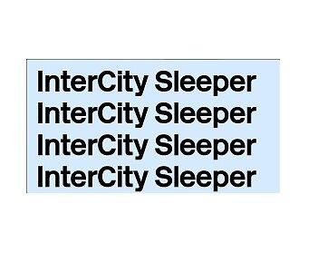 Triang, Hornby Lima Ect Br Intercity Sleeper Transfers, Water Slide, Decals X4
