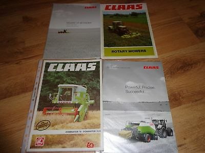 COLLECTION OF CLAAS TRACTOR BROCHURES x 4