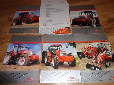 COLLECTION OF McCORMICK TRACTOR BROCHURES x 5