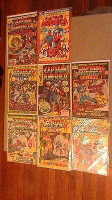 Lot of 8 very old Captain America Comics Marvel #124 #146 #149 #150 #169 #171