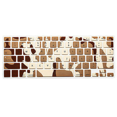 """CAMOUFLAGE MACBOOK & PRO 13"""" 15"""" 17"""" KEYBOARD COVER SKIN CAMO silicon laptop mac"""