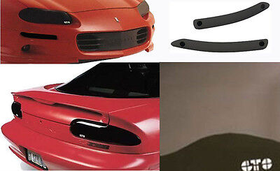 98-02 Camaro SS Z28 GTS Acrylic Smoke Headlight Turn Signal Taillight Covers 6pc