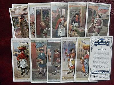 CRIES OF LONDON (2nd Series) - ORIGINAL Complete Set of 25 - PLAYERS -1916 - VG+