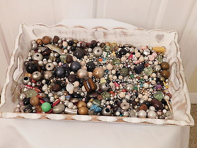 Job Lot of Mixed Used Beads for Crafts approx. 1 kg
