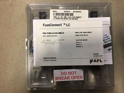 Fuse-Lc-9U-Smu-6 Afl Fuse Connect Lc Connector 900 Mic For Sm Fiber 6 Pk