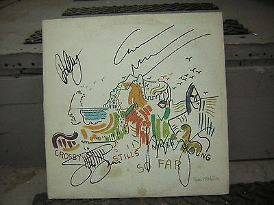 Crosby Stills Nash & Young Signed So Far Lp Neil Young